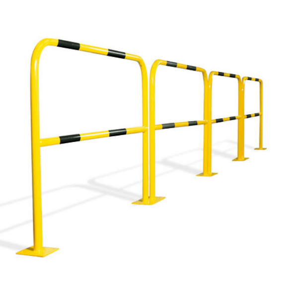 Barrières de sécurité jaunes et noires